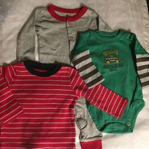 Carter's 6M long sleeve sleeper, T & one-piece